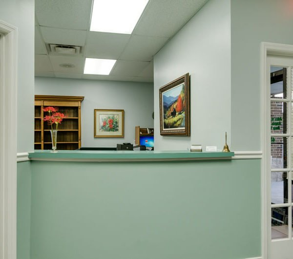 picture of the front desk